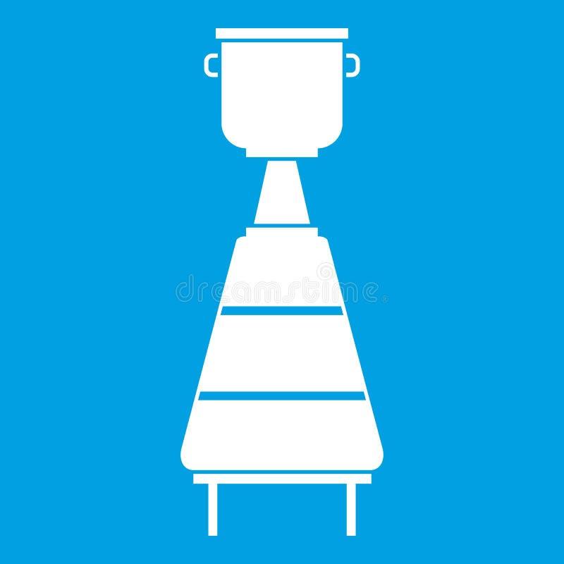 Blanc d'icône d'équipement de distillerie de vin illustration stock