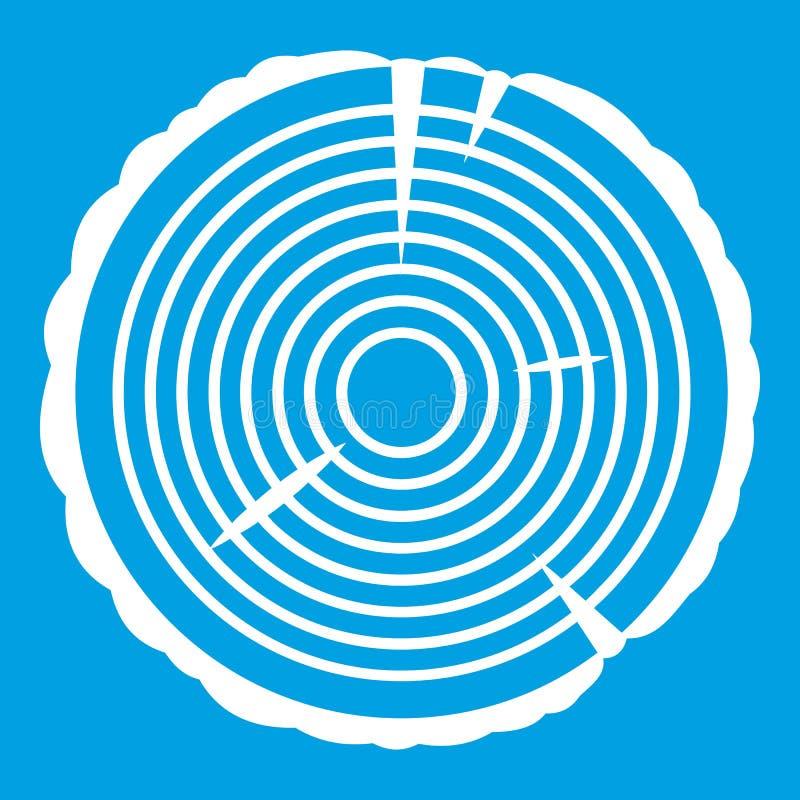 Blanc d'icône d'anneau d'arbre illustration stock