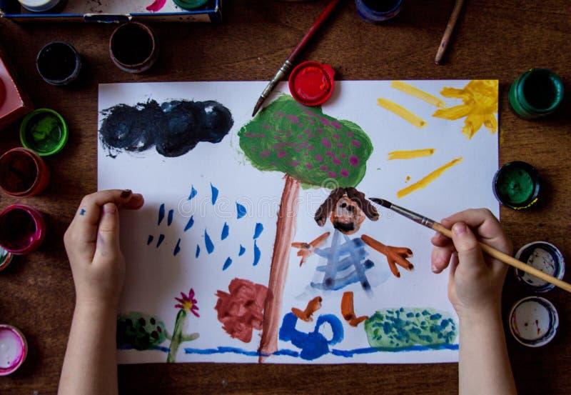 blanc d'illustration d'enfant de guindineau de fond photos libres de droits