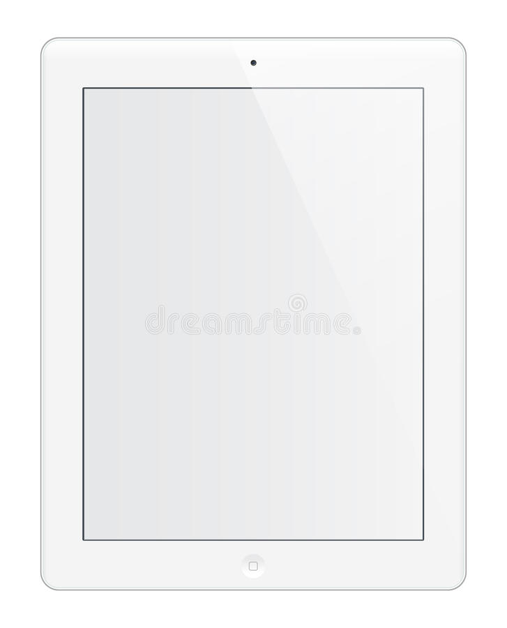 Blanc d'IPad HD illustration stock