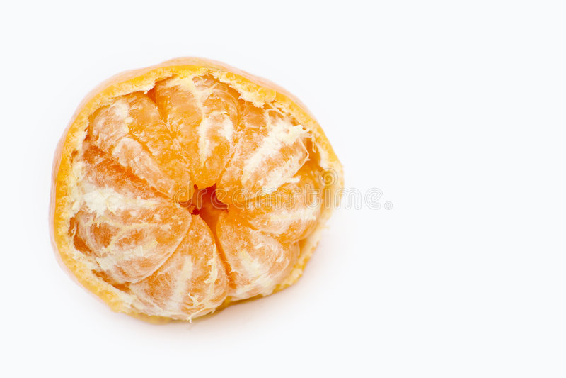 blanc d'isolement de mandarine images libres de droits