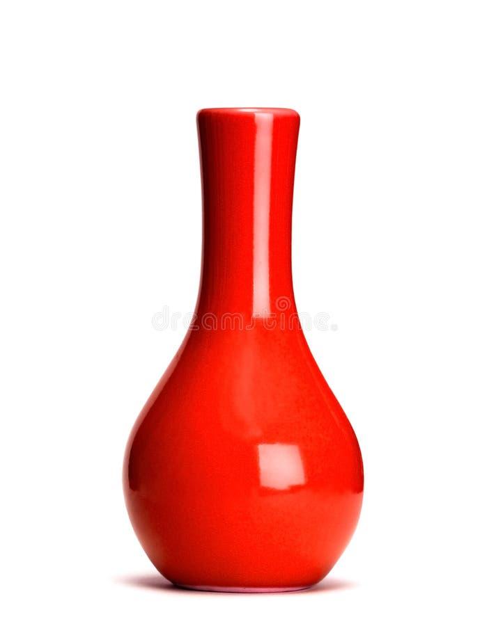 blanc d'isolement de vase photographie stock