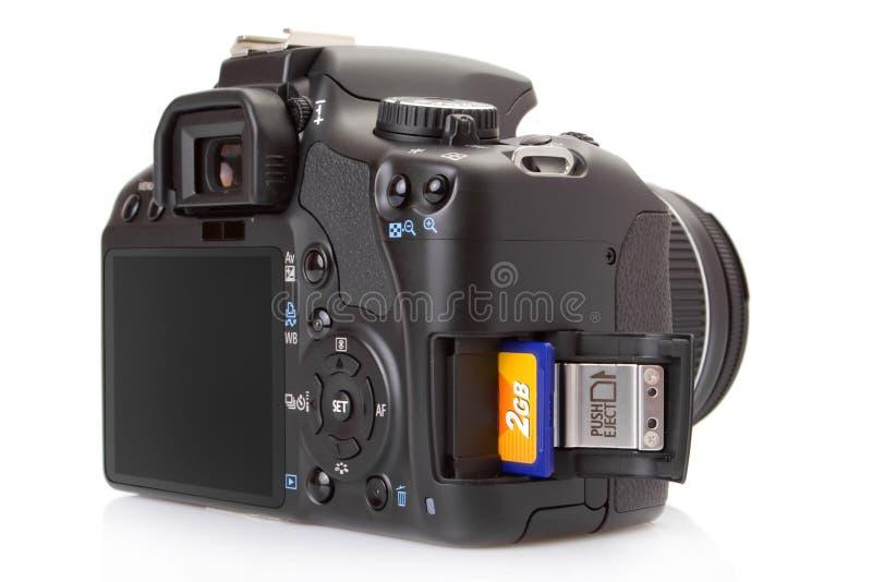 blanc d'isolement digital de slr photographie stock libre de droits