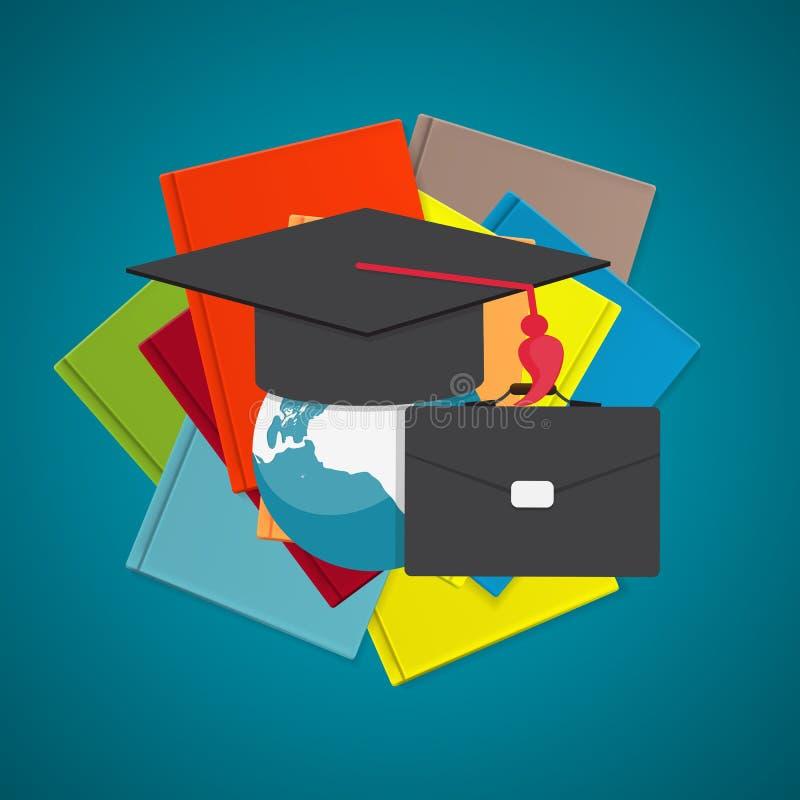 blanc d'isolement par éducation de concept d'affaires Tendances et innovation dans l'éducation illustration de vecteur