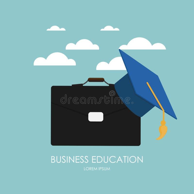 blanc d'isolement par éducation de concept d'affaires Tendances et innovation dans l'éducation illustration stock