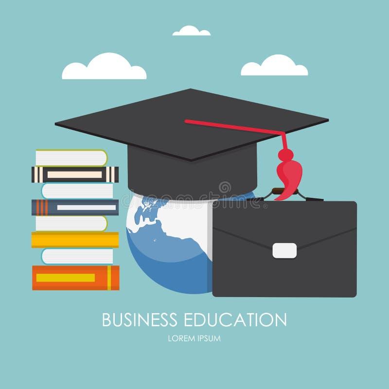 blanc d'isolement par éducation de concept d'affaires Tendances et innovation dans l'éducation illustration libre de droits
