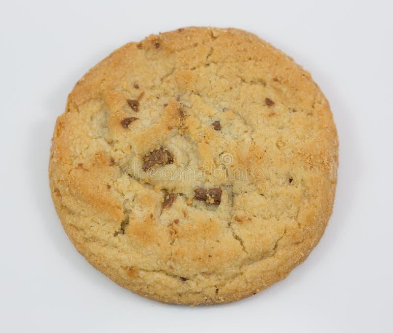 blanc d'isolement par biscuit de fond photo stock