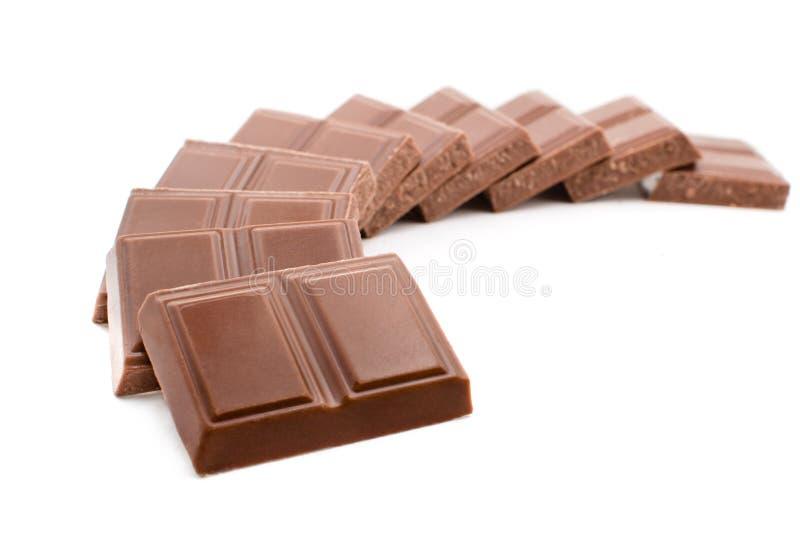 blanc d'isolement par chocolat de bar images libres de droits