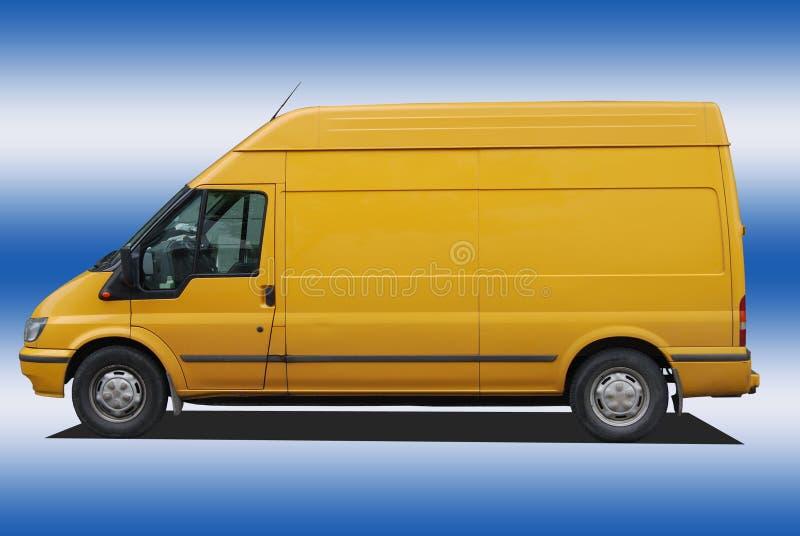 blanc d'isolement par distribution de véhicule photographie stock