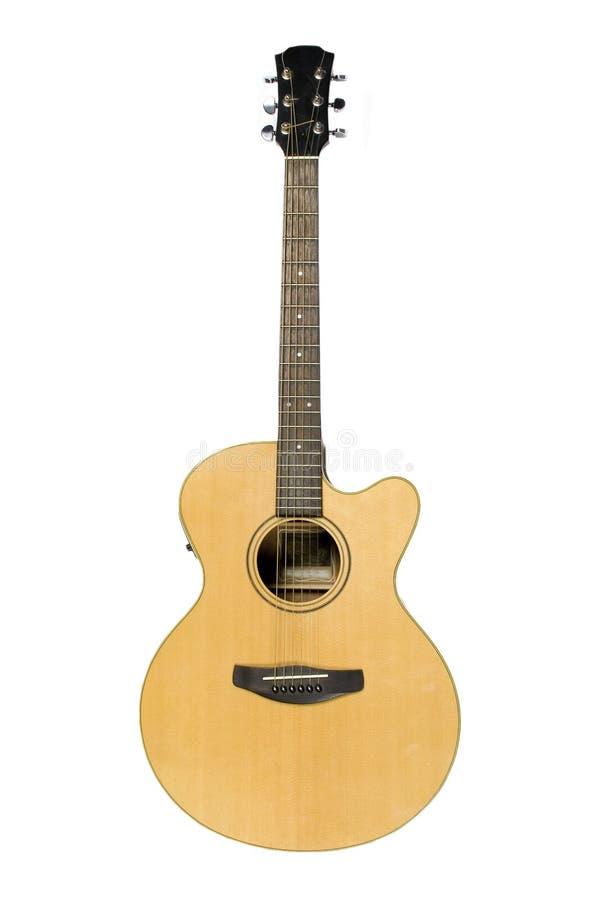 blanc d'isolement par guitare classique acoustique images libres de droits