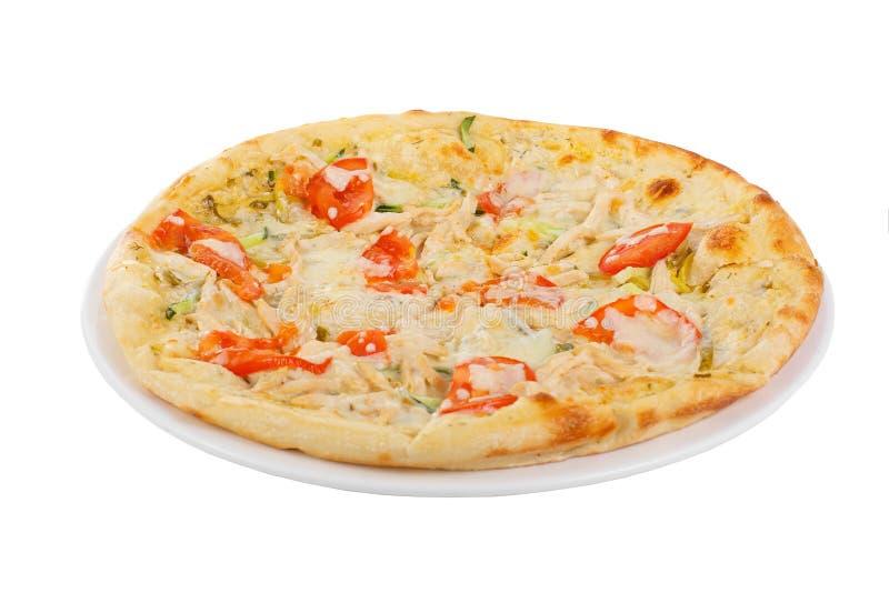 Blanc d'isolement par pizza image stock