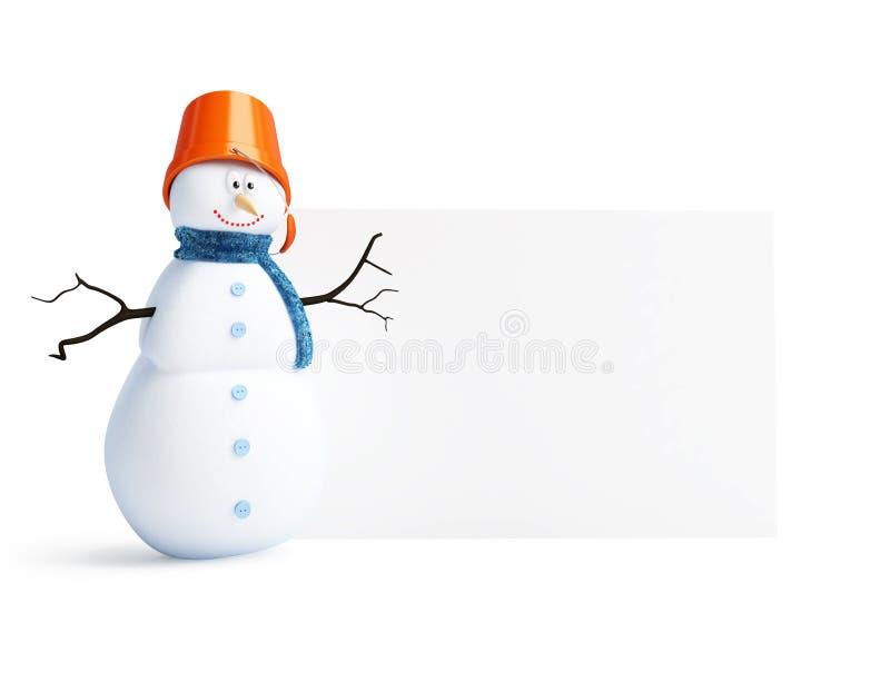 Blanc de bonhommes de neige illustration de vecteur