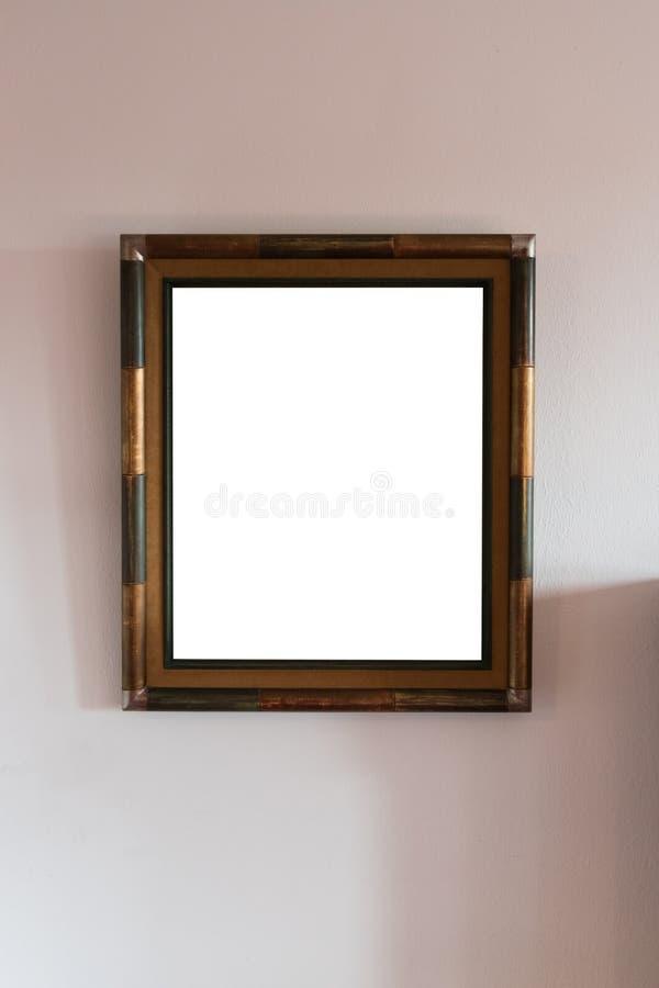 Blanc de cadre de tableau image stock