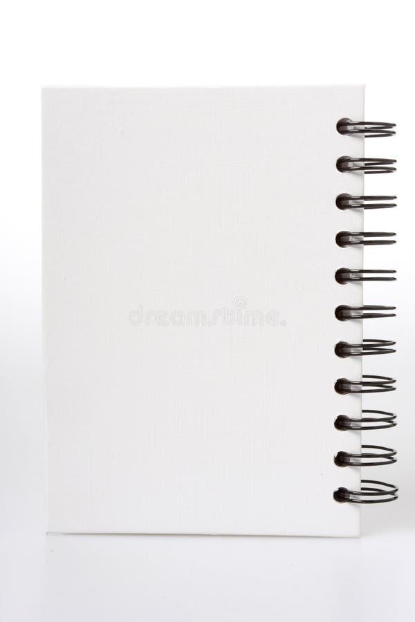 blanc de cahier photographie stock