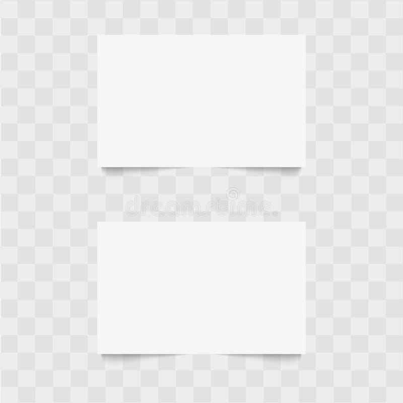 Blanc de carte de visite professionnelle de visite avec l'ombre molle Vecteur photos libres de droits