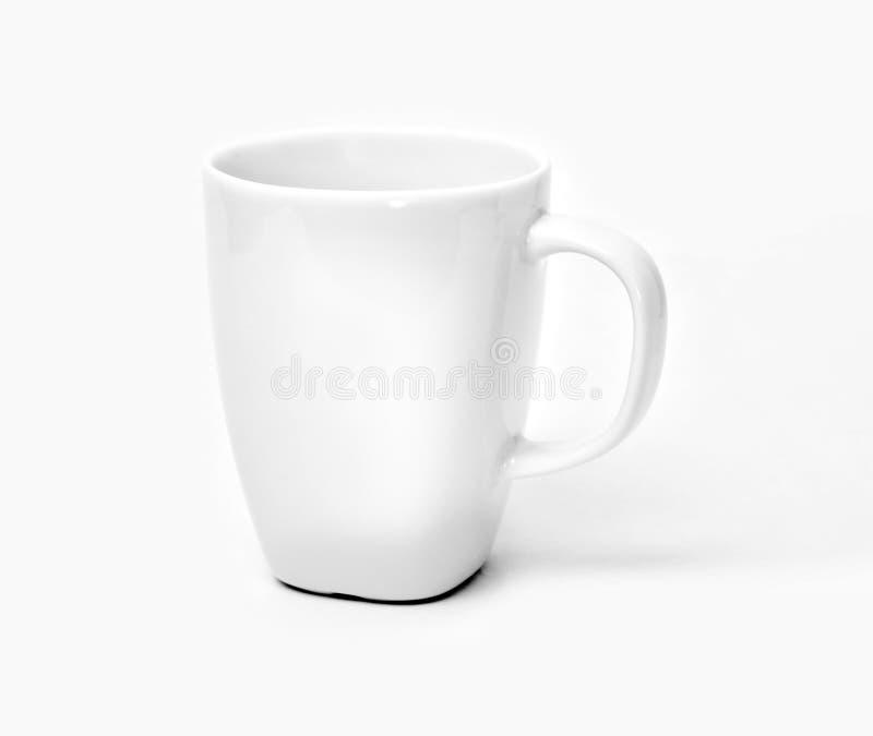 blanc de cuvette de café photographie stock