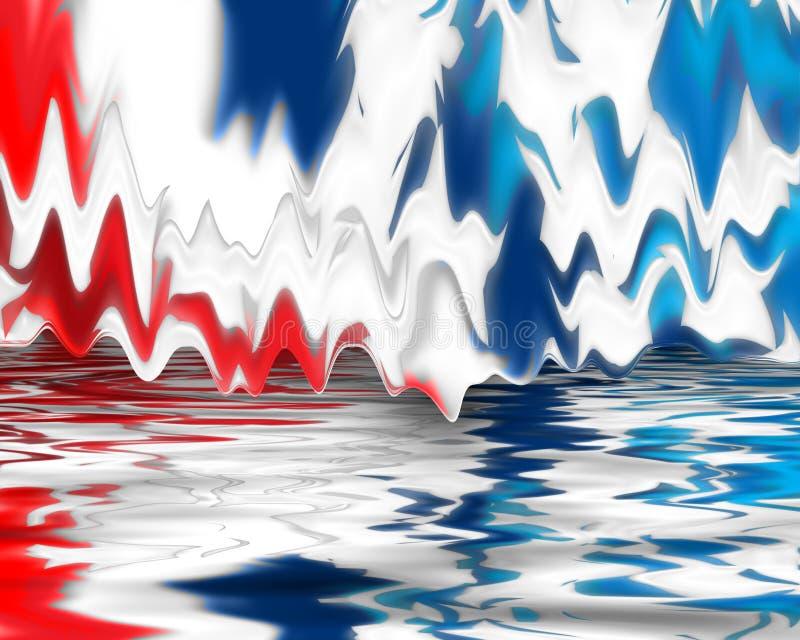 Blanc de Digitals et bleu rouges illustration de vecteur