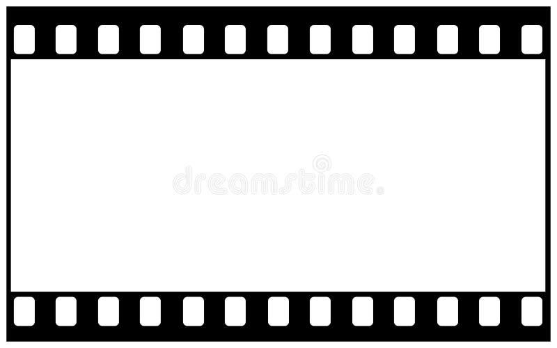 blanc de film de 35mm pour l'image large illustration libre de droits