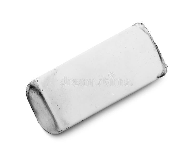 Blanc de gomme utilisé photographie stock