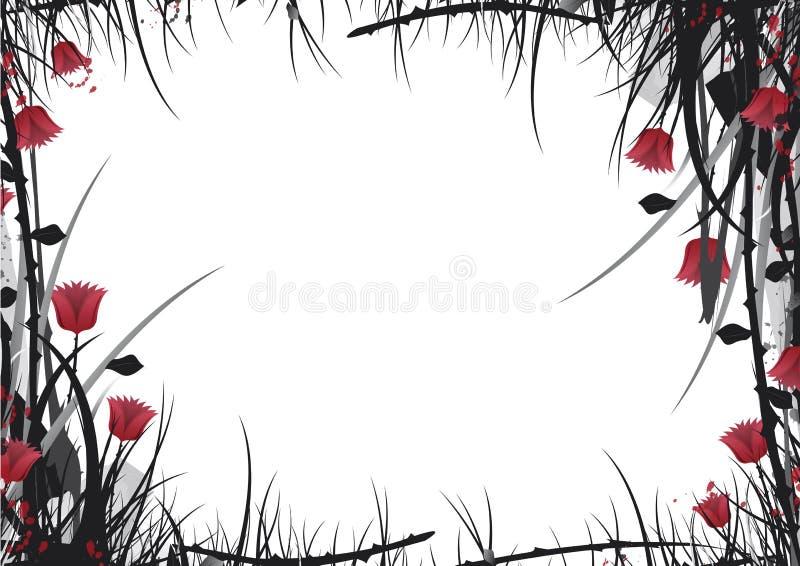 Blanc de jardin de vecteur illustration de vecteur