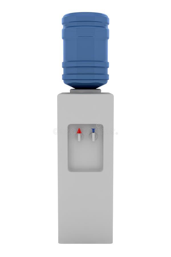 blanc de l'eau d'isolement par refroidisseur de fond illustration de vecteur