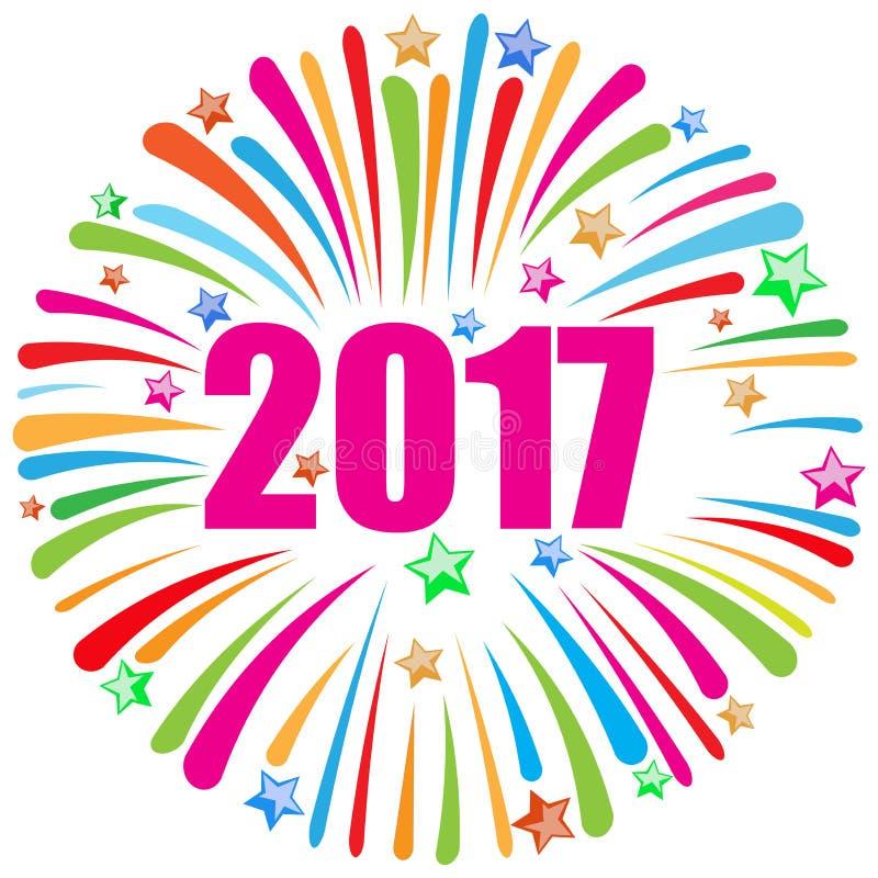 Blanc de la bonne année 2017 illustration libre de droits