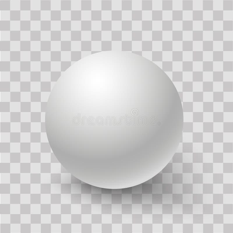 Blanc de la sphère ou de la boule 3d ronde blanche Vecteur images stock