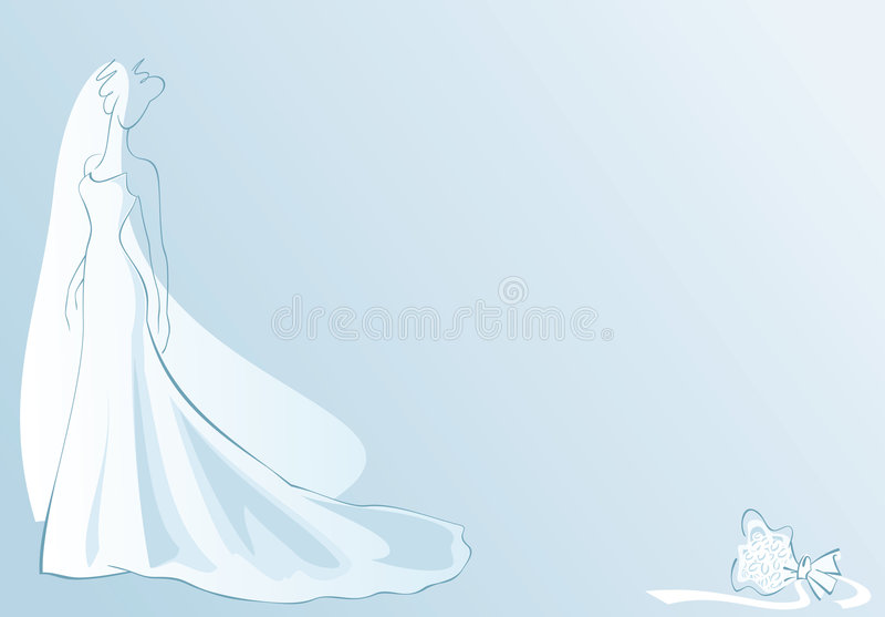 blanc de mariée illustration stock