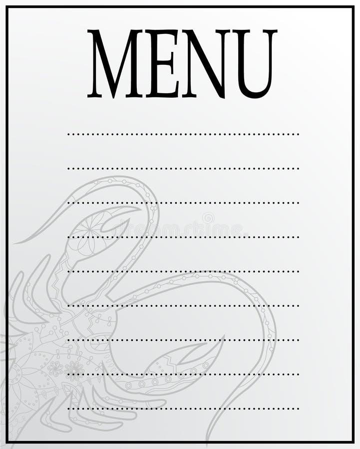 Blanc de menu illustration de vecteur