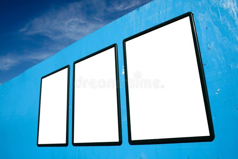 blanc de panneaux-réclame image stock