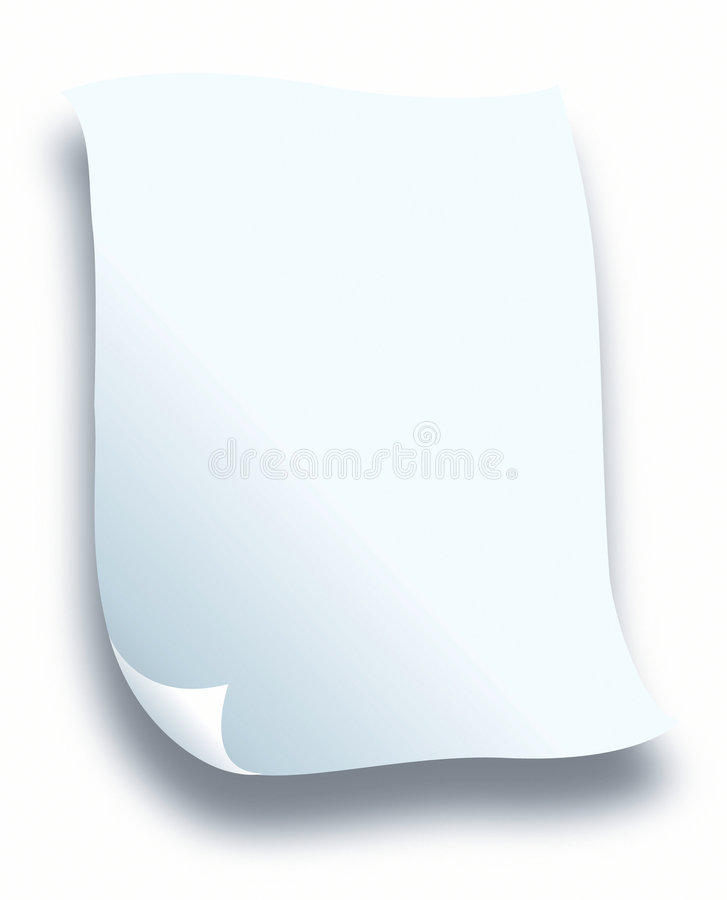 Blanc de papier de lettre illustration stock