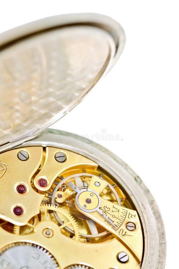 blanc de poche de détail d'horloge photos stock