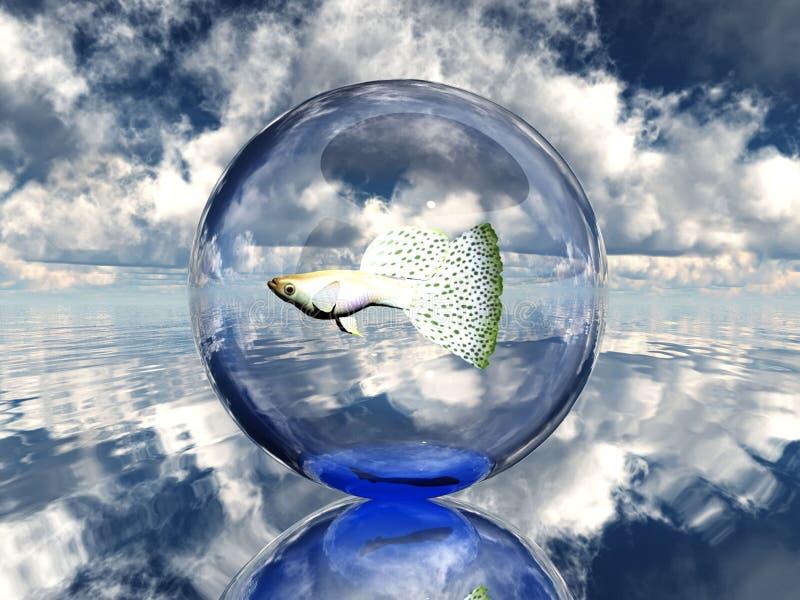 blanc de poissons de fond illustration de vecteur