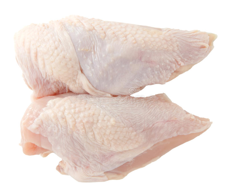 Blanc de poulet cru photo stock