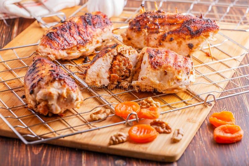 Blanc de poulet de BBQ image stock