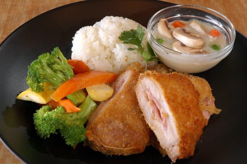 Blanc de poulet frit image libre de droits