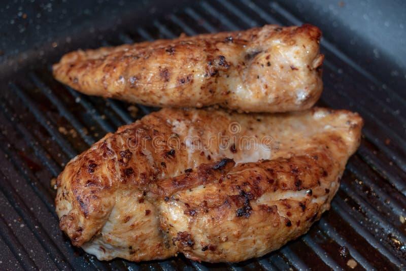 Blanc de poulet grillé photos stock