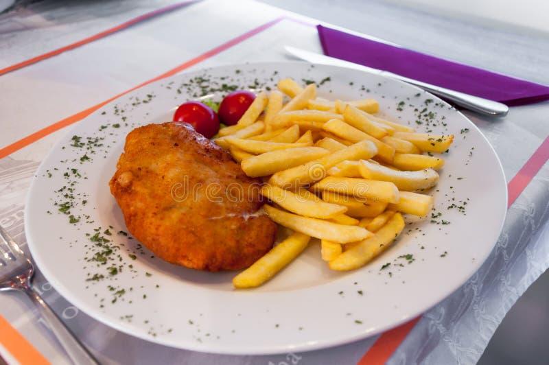 Blanc de poulet pané photo libre de droits