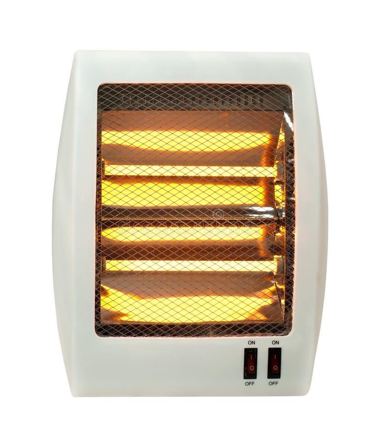 Blanc de radiateur électrique d'isolement image stock