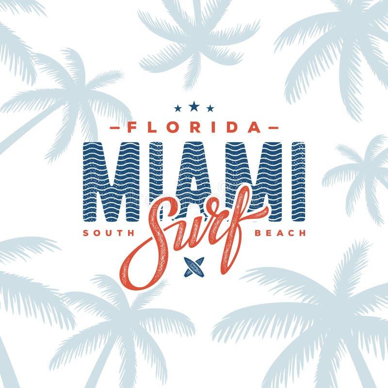Blanc de ressac de Miami illustration de vecteur
