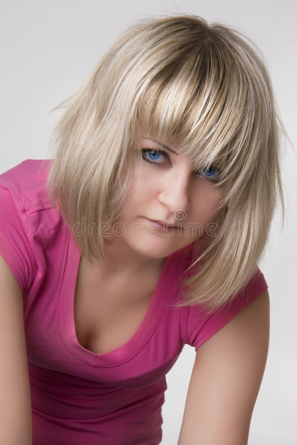 blanc de rose de fille d'emo de fond image libre de droits