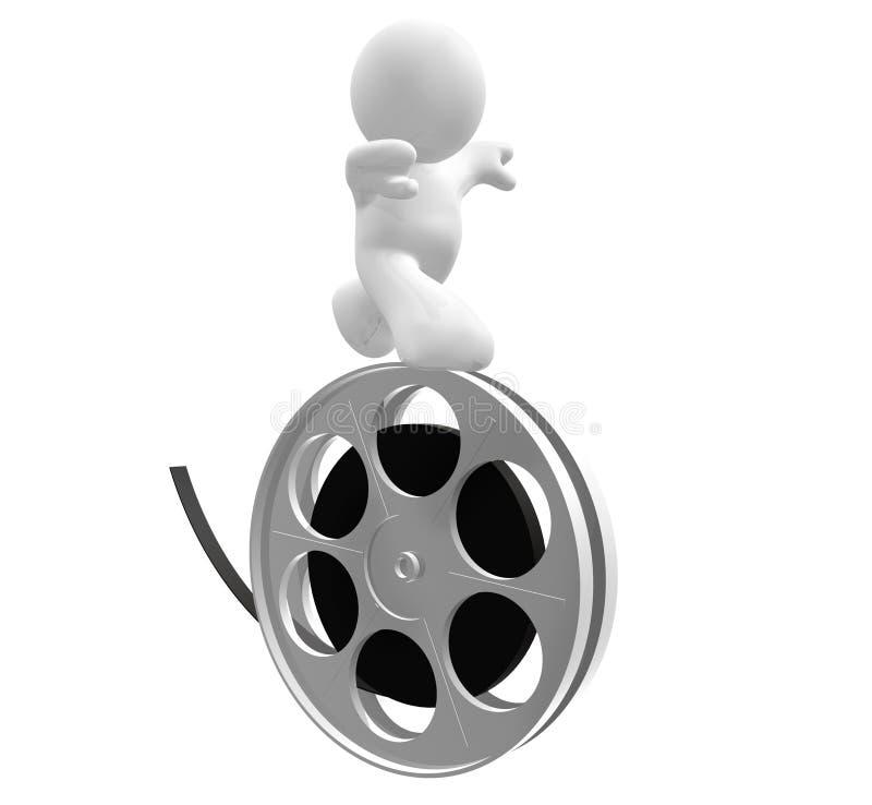 blanc de roulement de bobine de graphisme de type de film illustration de vecteur