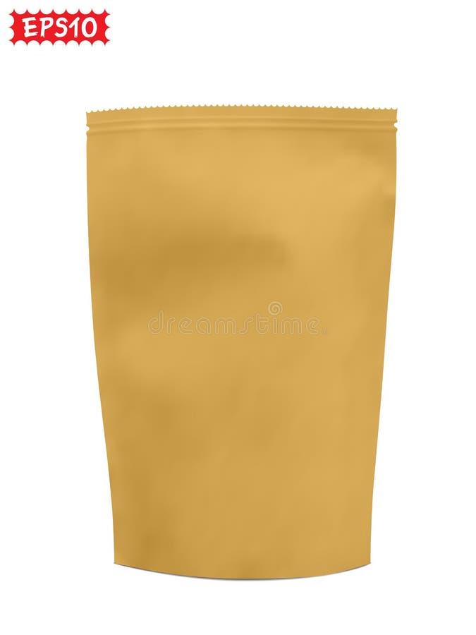 Blanc de sac de papier illustration de vecteur