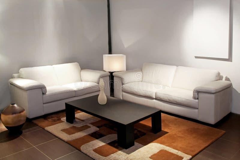 Blanc de salle de séjour photo libre de droits