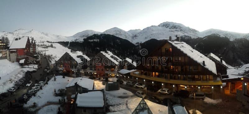 Blanc de ski de Prato Nevoso images stock