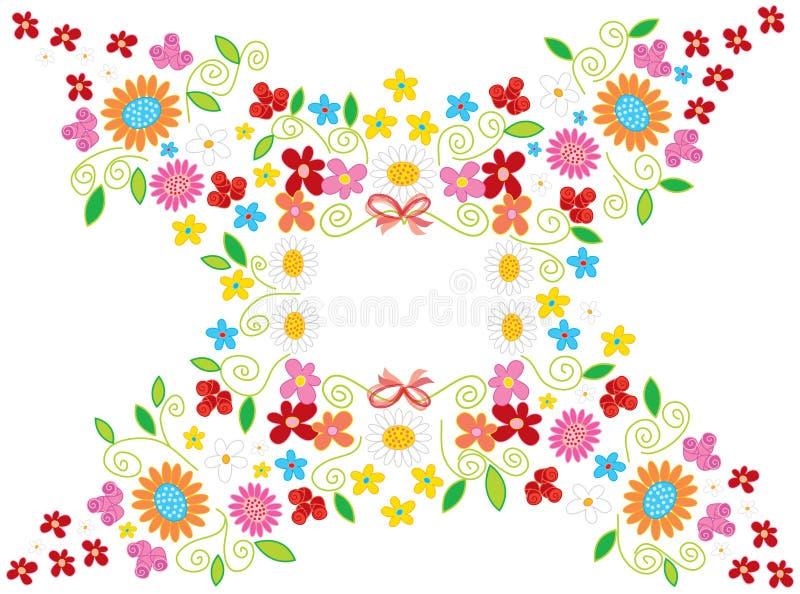 Blanc de trame de fleur de source illustration de vecteur