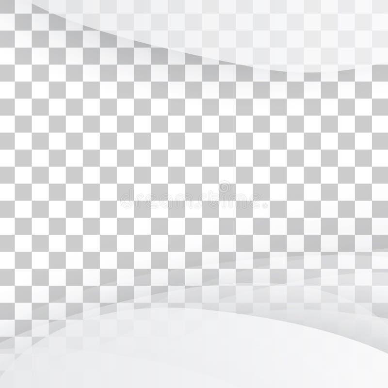 Blanc de vecteur de bannière onduleuse illustration stock