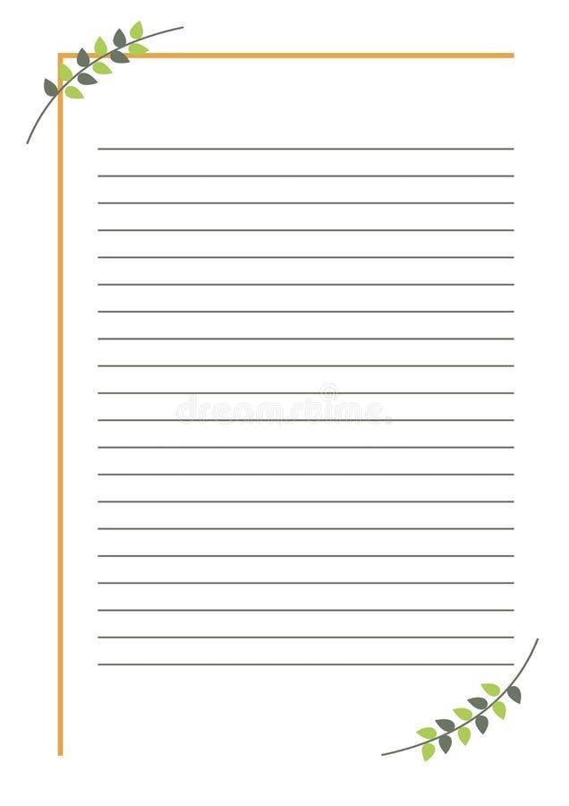 blanc de vecteur pour la lettre ou la carte de voeux forme simple avec le cadre les lignes et. Black Bedroom Furniture Sets. Home Design Ideas