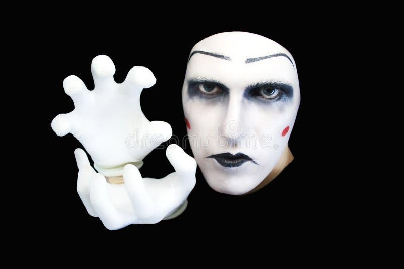 blanc de verticale de pantomime de gants photos stock
