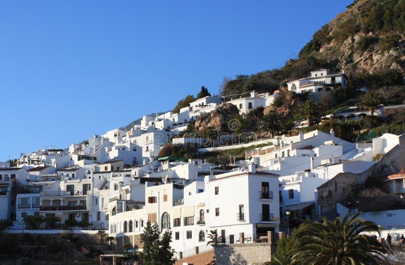 blanc de village de frigiliana Espagne photos stock